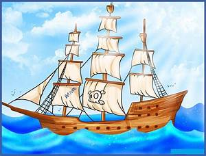 Diagram Of A Ship For Kids