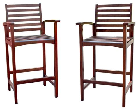 wood bar height patio chairs set of 2 outdoor bar