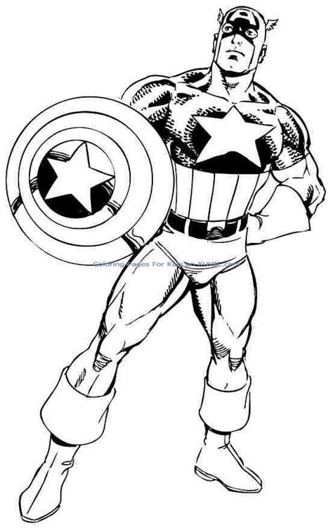 coloriage captain america les beaux dessins de super