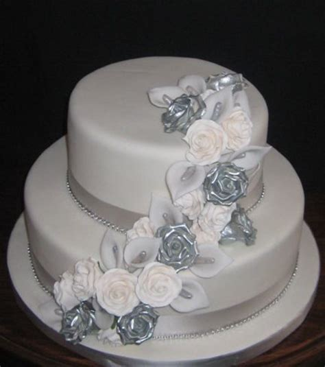 HD wallpapers silver wedding anniversary cake ideas