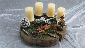 Basteln Mit Baumscheiben : weihnachtsdekoration selber basteln adventskranz auf ~ Watch28wear.com Haus und Dekorationen