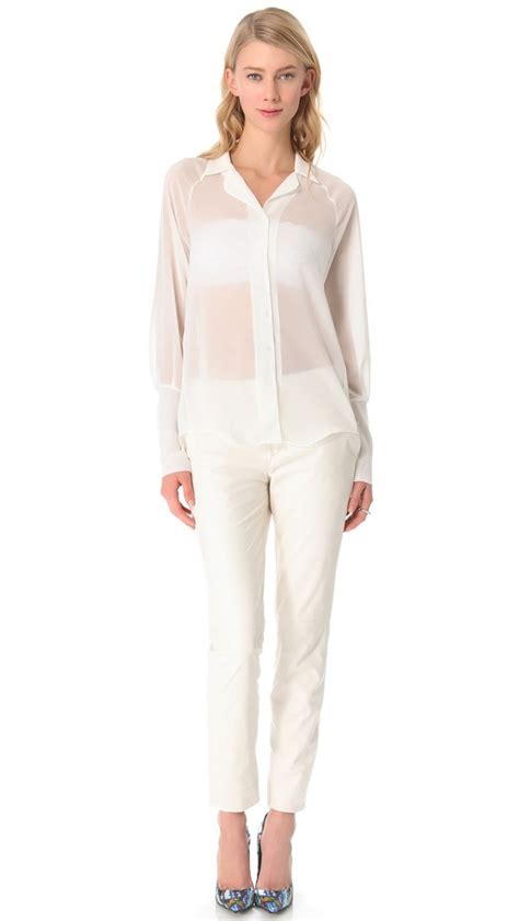 sheer white blouse blouse sheer white sheer sheer blouse sheer collar