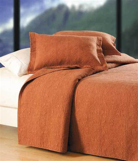 Terra Cotta Quilted Matelesse Quilt & Bedding by C&F