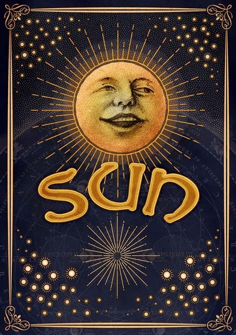 Illustration – Sun, Moon & Stars | Dan Meneely Design
