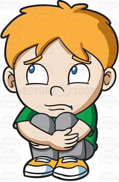 Sad Boy Clipart Ginger Hair Shirt Cartoon