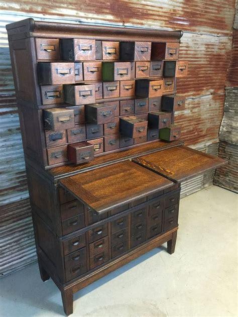 antique oak  drawer globe wernicke stacking file cabinet
