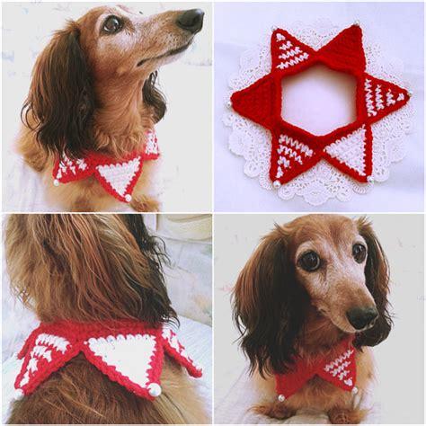 crochet christmas dog scarf christmas dog