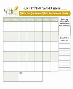 6 meal calendar template free sample example format With monthly dinner calendar template