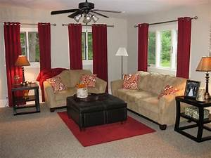 Images of living rooms with red curtains living room for Red velvet curtains living room