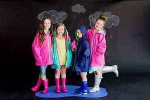 Kids Rain Coat Southern Glam Monogram