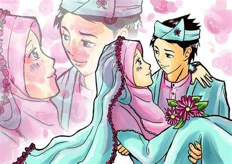 anime islami terbaru gambar wallpaper kartun pasangan gudang wallpaper