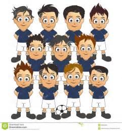 Cartoon Football Players Team