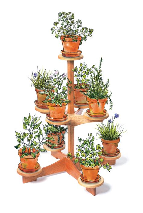 Patio Plant Stand Plans by Aw 4 19 12 Nine Pot Plant Stand Popular