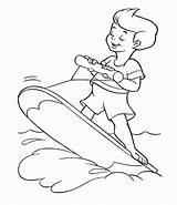 Coloring Surfing Pages Books Summer Printable Library Clipart Comments sketch template