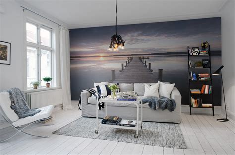 easy accent wall ideas   living room wall