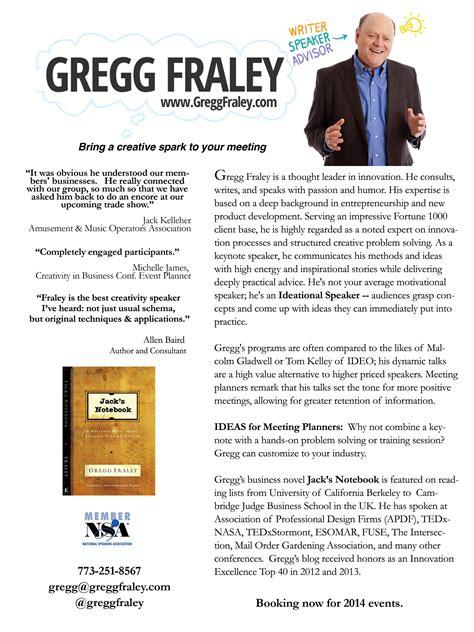 Gregg Fraley, Creativity & Innovation  Gregg Fraley One