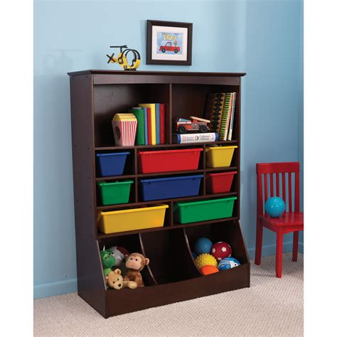52 Childrens Toy Storage Shelves Kids Stackable Wooden