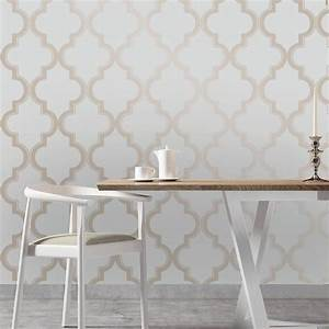 Tempaper Bronze Grey Marrakesh Wallpaper