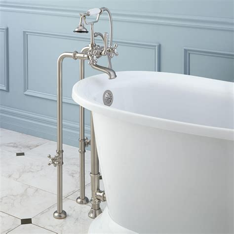 freestanding telephone tub faucet supplies valves  drain cross handles bathroom