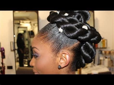 bridal series  strand twisted updo youtube