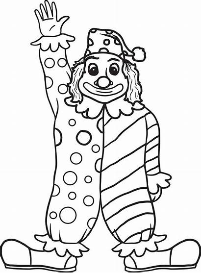 Clown Coloring Drawing Pages Printable Face Drawings