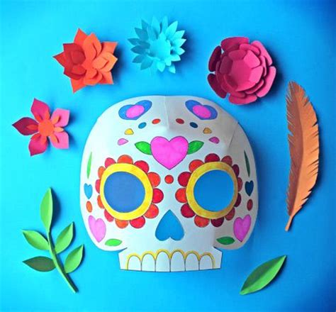Day of the Dead party ideas: Color in calavera masks