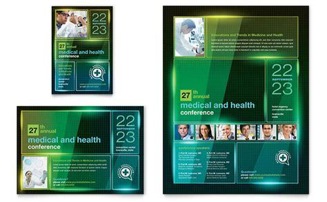 medical conference flyer ad template design