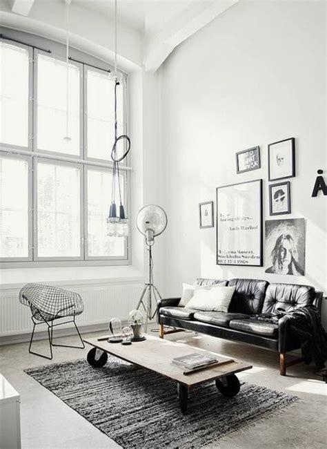 salon canapé blanc salon avec canape noir chaios com