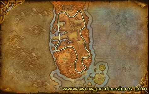 wow mining ore copper durotar mine map guide warcraft maps leveling darkshore horde ores path legion alliance dun morogh bars