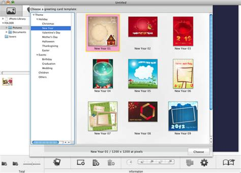 photo card maker templates snowfox greeting card maker for mac to make your