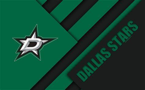 Download wallpapers Dallas Stars, 4k, material design ...