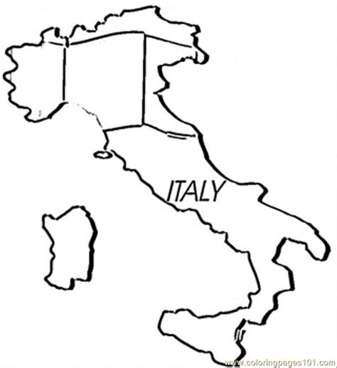 coloring pages map  italy countries italy