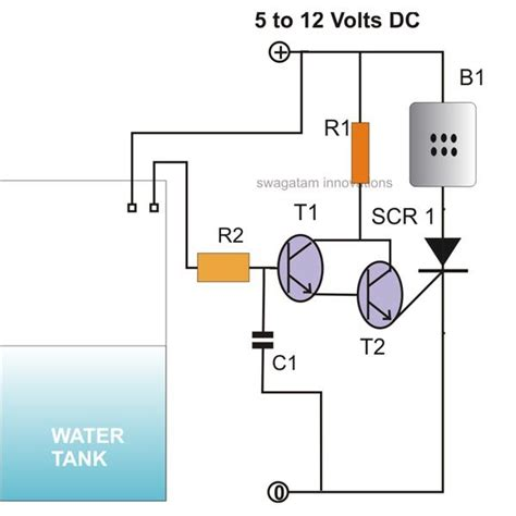 Simple Scr Controlled Water Level Indicator Circuit
