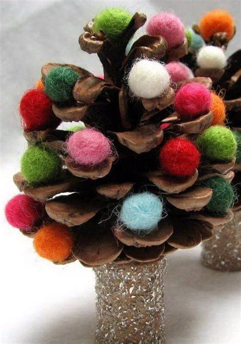 painted pine cone crafts  thanksgiving holiday family