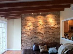 Interior cultured stone - Contemporary - Family Room