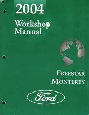 ford freestar mercury monterey workshop manual