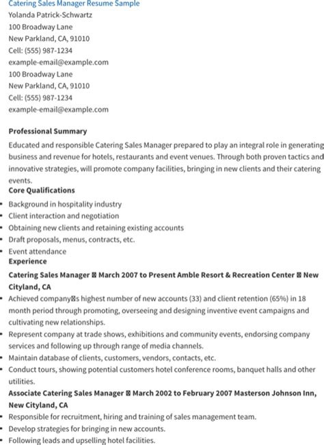 sales manager resume templates for free