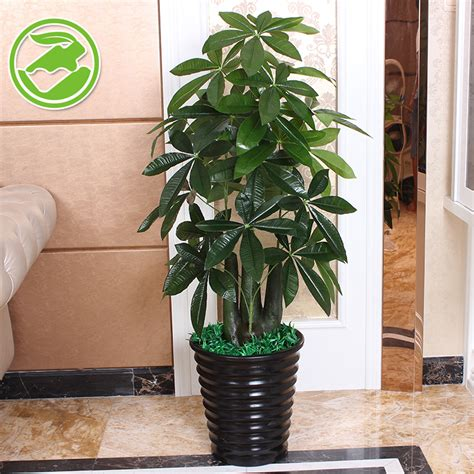 fake tree stump pachira small potted plants artificial