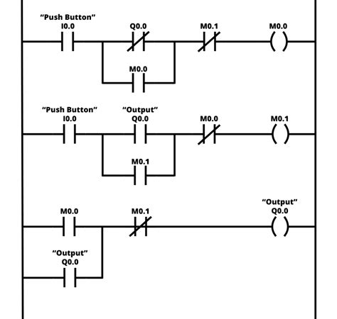 Ladder Logic Example With Toggle Flip Flop Function