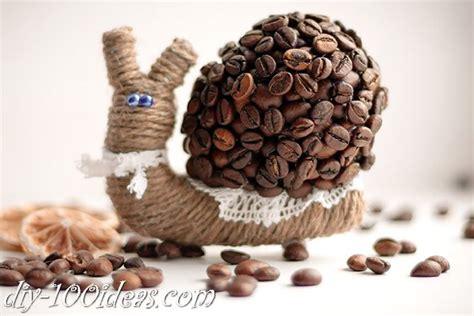 diy coffee bean snail diy  ideas