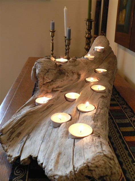 driftwood candle holder 8 easy diy wood candle holders for some rustic warmth this