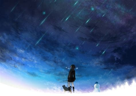 Anime Night Scenery Wallpaper 唯美星空 搜狗图片搜索