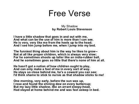 exles of free verse poems