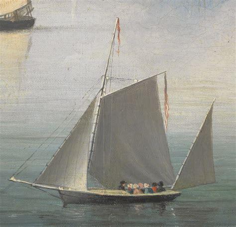 Boat Canvas Gloucester Va by Fitz Henry Becalmed Halfway Rock 1860 Inv