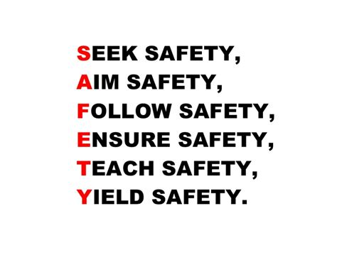 Image result for safety quote