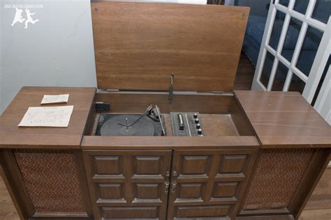 diy record player cabinet rebuild and modernize an old stereo console diy old