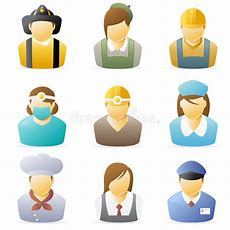 People Icon Occupations Set 5 Stock Vector  Illustration Of Icon, Baby 8065462