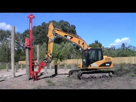 pile driving  cat dl excavator   zealand youtube