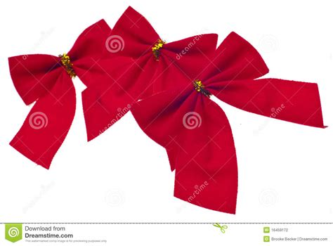 festive red holiday bows stock photography image 16459172