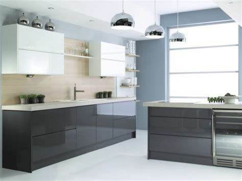 cuisine moderne blanche stunning cuisine blanche mur gris anthracite contemporary